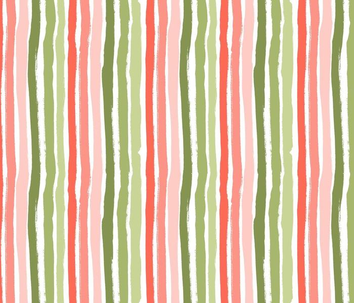 Spring Gouache stripes on white