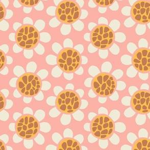 Hippy Flowers - Peach