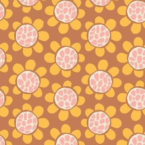 Hippy Flowers - Caramel
