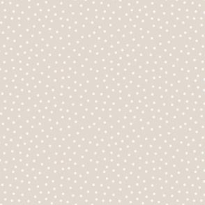 Dots Folks - beige over dark beige