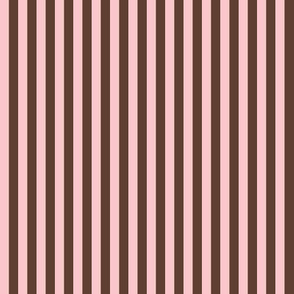 pink and chocolate stripes
