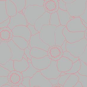Sprinkle flowers (pink/grey)