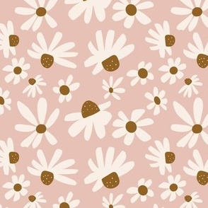 Daisy Floral / Dusty Pink