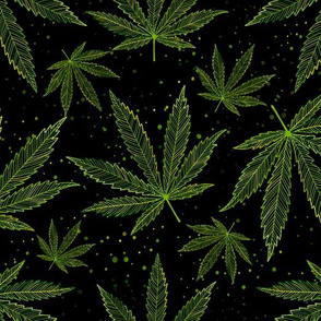 Cannabis Leaves Pattern