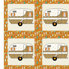 Cheater Quilt, Fill-a-Yard - Dalton_Orange
