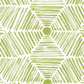 Mystic aztec in olive green - watercolor abstract geometric brush strokes p308