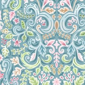Softly Goes Rococo Wallpaper