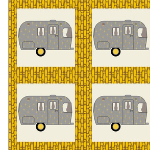 Cheater Quilt, Fill-a-Yard - Airstream2_Gold