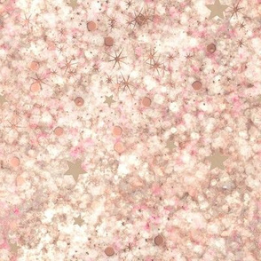 Foamy Pink and Cream Latte Galaxy Abstract
