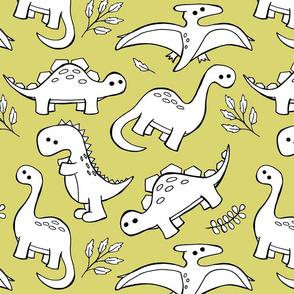 Sketchy Dinosaurs - Gold