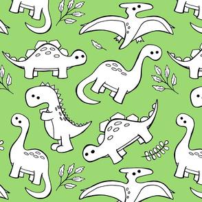 Sketchy Dinosaurs - Green