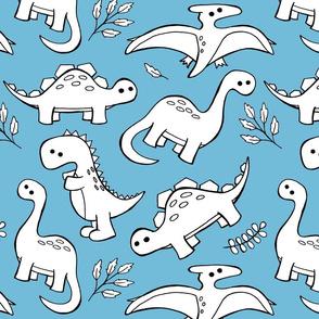 Sketchy Dinosaurs - Blue