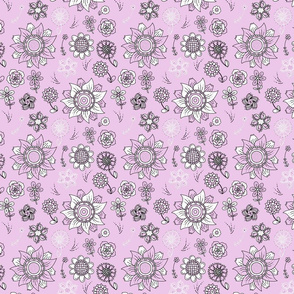Tiny pastel pink - Scattered Flowers