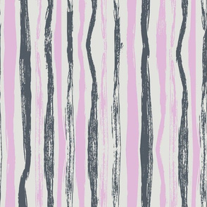 rough brush strokes lilac and carbon grey - large scale