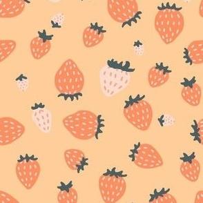 Small Strawberry Pastel Yellow Orange Sunny Bright Nursery