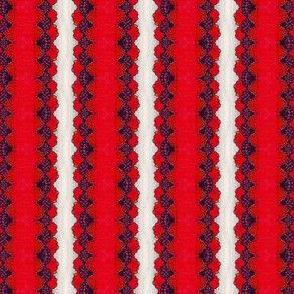 Red Lace Stripe