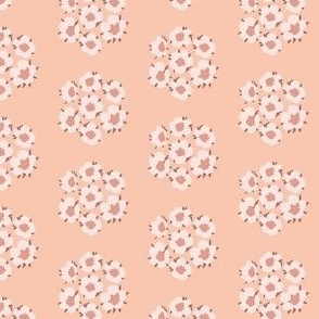 Small Boho Delicate Blossom Floral in Peachy Pink