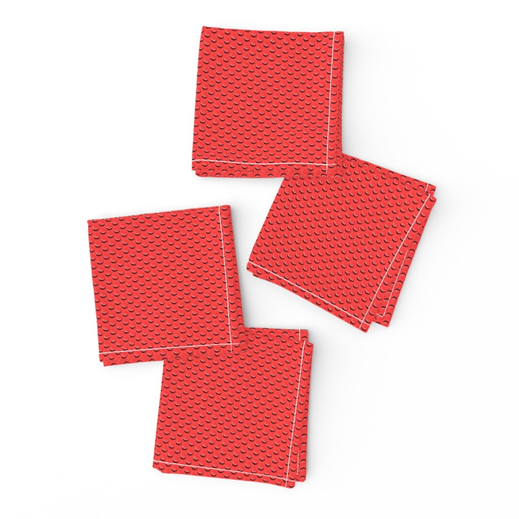 Frizzle Cocktail Napkins featuring building bricks red by spacefem