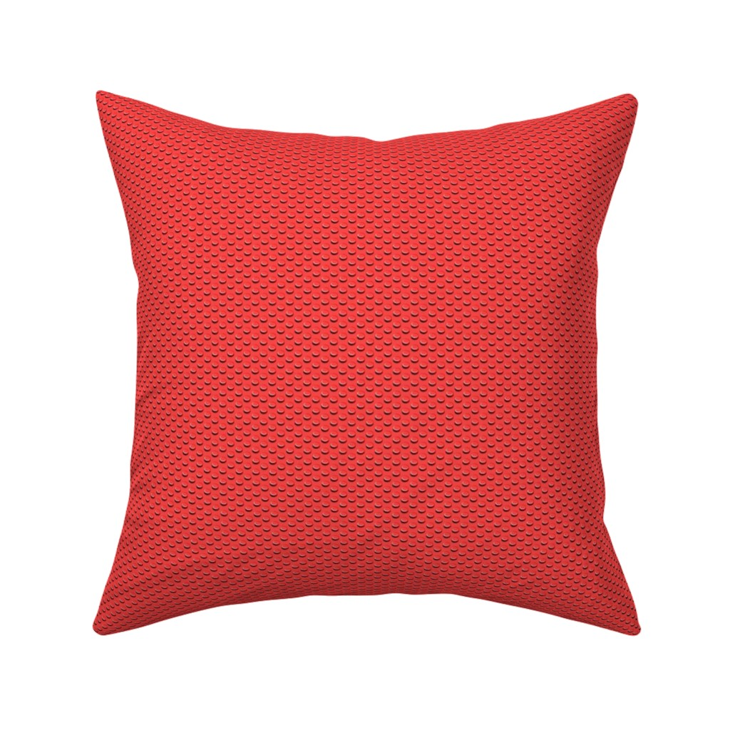 Catalan Throw Pillow featuring building bricks red by spacefem