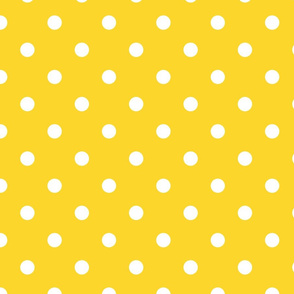 Yellow With White Polka Dots - Large (Summer Collection)