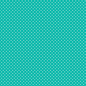 Teal With White Polka Dots - Small (Summer Collection)