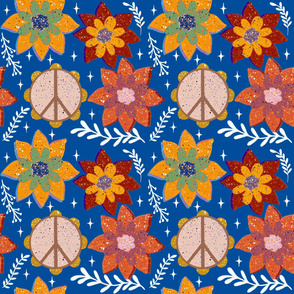 Tambourine Blossoms - Blue