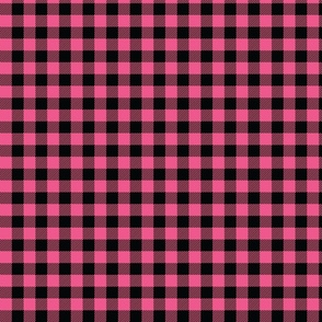 Pink And Black Check - Small (Summer Collection)
