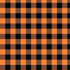 Orange And Black Check - Medium (Summer Collection)