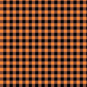 Orange And Black Check - Small (Summer Collection)