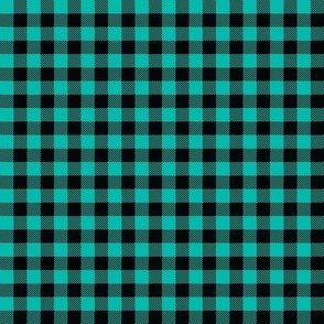 Teal And Black Check - Small (Summer Collection)