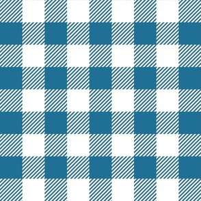 Dark Blue And White Check - Large (Summer Collection)