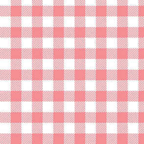 Light Pink Check - Medium (Watermelon Collection)