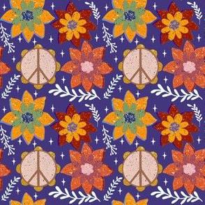 Tambourine Blossoms-Purple