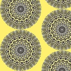 Spoonflower Break Room - Zebra Zinnias