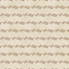 curlique stripe and dots antique two 2055-54