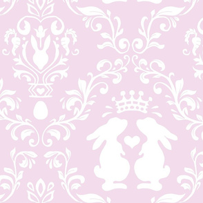 romantic bunny damask light pink