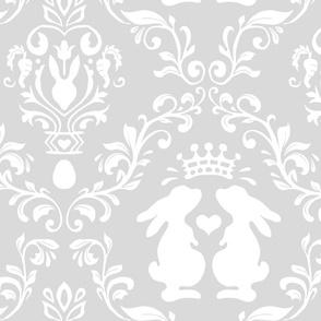 bunny king damask light gray
