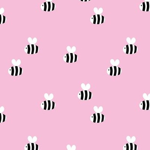 The minimalist bees cute bumble bee love spring summer design kids pink
