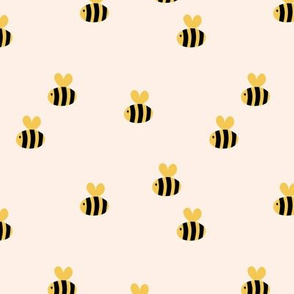 The minimalist bees cute bumble bee love spring summer design kids ivory yellow black