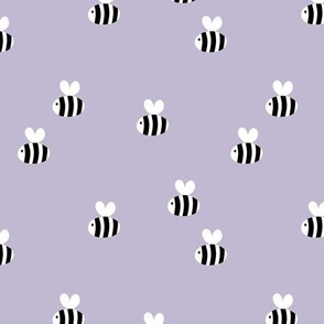 The minimalist bees cute bumble bee love spring summer design kids lilac purple lavender