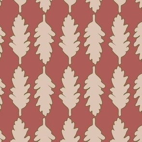 Autumn leaves on parade: large scale, wallpaper, home decor, bed linen