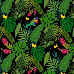 Tropical Jungle Fever - black, medium/large
