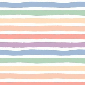 Muted distorted rainbow stroke lgbtq stripes colorful pride flag colors pastel on white