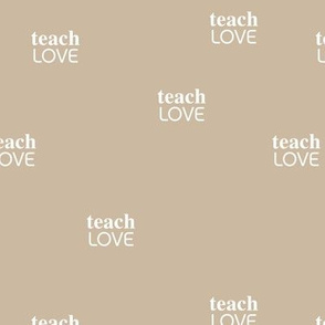 teach 'm love - black lives matter positive vibes saying beige sand