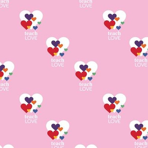 Love is love - lgbtg pride colors hearts inclusive positive vibes quote design pink