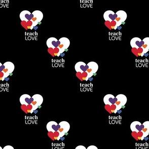 Love is love - lgbtg pride colors hearts inclusive positive vibes quote design black