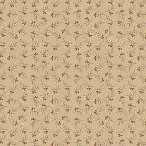 little flower sprig dark beige 2062-12