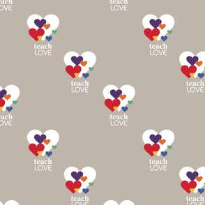 Love is love - lgbtg pride colors hearts inclusive positive vibes quote design gray