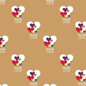 Love is love - lgbtg pride colors hearts inclusive positive vibes quote design ochre yellow neutral summer