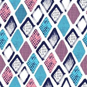 Hand drawn abstract rhombus design